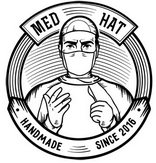 Эксклюзивные дизайнерские шапки для врачей, из итальянской ткани дизайнера Paul Smith